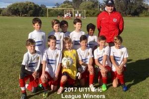 2017 League Winners U14 Tric - Bunbury United Junior