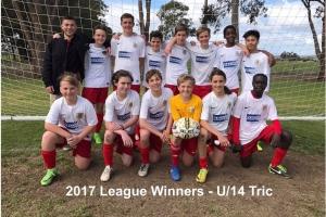 2017 League Winners U14 Tric