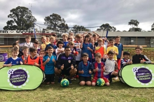 2017 Perth Glory Soccer School at Bunbury United Soccer Club Inc. Junior & Seniors. Guest player Jamal Reiners
