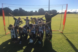 Amazing pose by Hay Park United Soccer Club Team together with coach