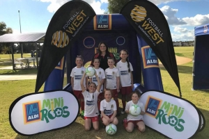 Bunbury United Girls Soccer Team at Mini Roos