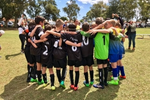 CCJSA Junior Soccer Team - Group Hug