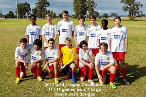 Congrats U14 Tric, the League could be yours!