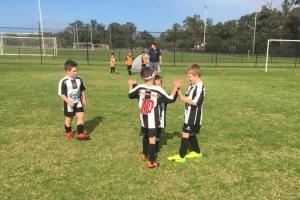 Hay Park United Soccer Club - Boys Team Bonding Together