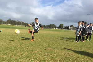 Kicking practise - Hay Park United Soccer Club