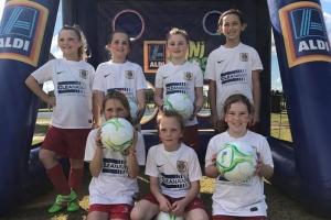 Lovely ladies from Bunbury United Soccer Club
