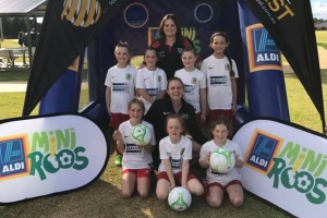 Pictorial with the coah at Mini Roos - Bunbury United Soccer Club
