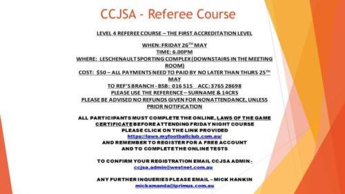CCJSA - Referee Course