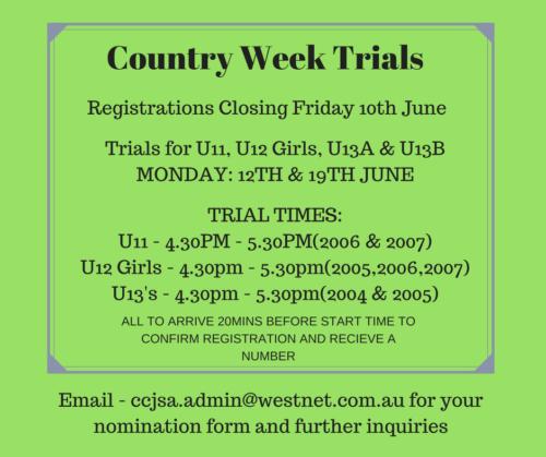 Country Week Trials