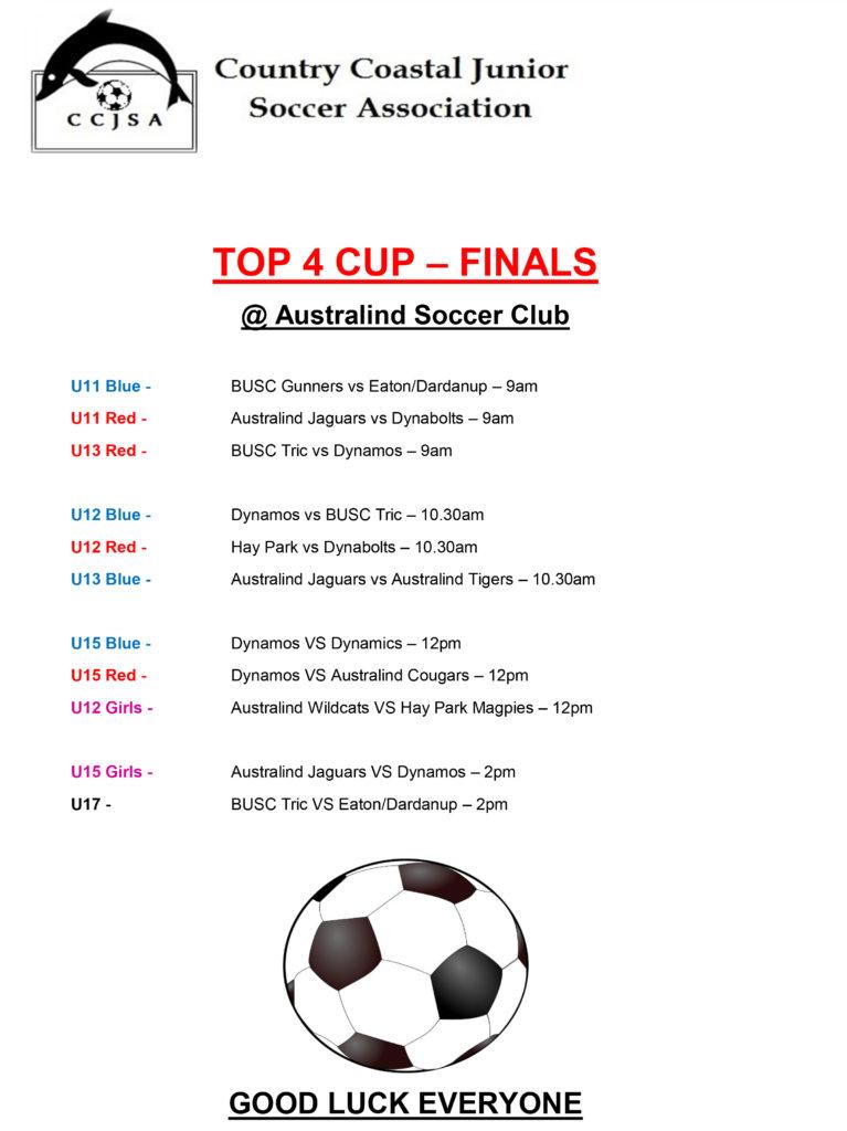 TOP 4 CUP FINALS - 2018