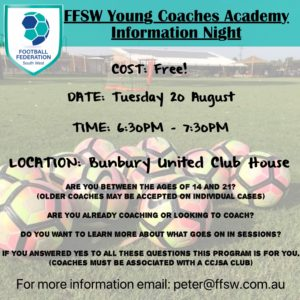 Young Coach Academy Info night 20th