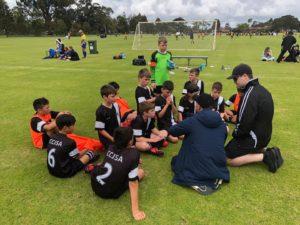 U11 boys with thier coach